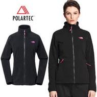 【美國 The North Face】女新款 Polartec 彈性保暖輕柔刷毛抓絨外套夾克(可Gore-Tex 中層衣)透氣快乾/運動休閒/登山健行賞雪滑雪/364K 黑