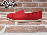 《下殺$1499》BEETLE PLUS 西門町專賣店 全新 NATIVE VERONA 水手鞋 超輕 紅 奶油底 RED GLM18-642