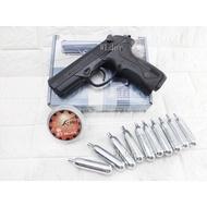 UMAREX BERETTA PX4 4.5mm 喇叭彈 CO2槍 + 4.5mm喇叭彈 + CO2小鋼瓶(鬥牛犬BB槍