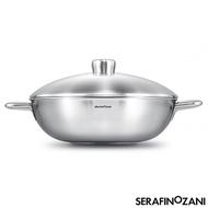 【SERAFINO ZANI 尚尼】IHC恆溫雙耳不鏽鋼炒鍋(34cm)