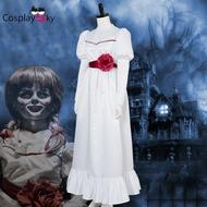 安娜貝爾2誕生COS 恐怖娃娃cosplay服裝 萬圣節cos服 鬼片cos服