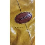 品牌大包包/側背包 斜背包㊣Tod's Tote 尼龍托特包 萬聖節南瓜包 冬天適合最夯的包(*已讓出無庫存*)