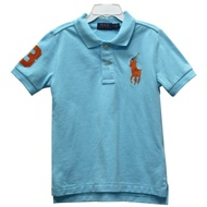 Ralph Lauren 童裝刺繡數字3經典大馬短袖POLO衫-淺藍色(5歲)