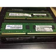 Asint DDR3-1600 4GB 桌上型電腦用記憶體 D3 4G 雙面顆粒