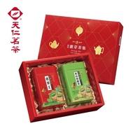 【天仁茗茶】天仁嚴選靈芽茶集禮盒-附提袋(高山烏龍茶葉300g+老茶王300g)