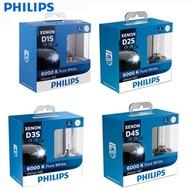 PHILIPS飛利浦德國製D1S/D2S/D3S/D4S HID燈泡6000K白光原廠色溫升級款 一組兩顆
