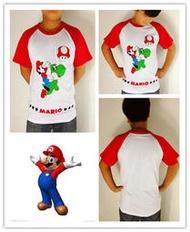 超級瑪莉歐 瑪莉兄弟 紅色圓領上衣 短袖T恤 情侶T恤 上衣 t-shirt 活動服製作 團服班服 cosplay