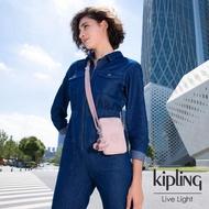 【KIPLING】氣質玫瑰粉可愛長方形小包-TALLY