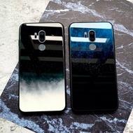 趣味殼❖印象小鋪LGG7手機殼玻璃硅膠lg g7保護套全包邊軟鏡面防摔冷淡風紋理星空極簡約個性文藝原創意男女款網紅