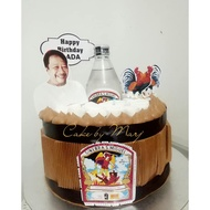 Gin Rooster Theme Cake topper