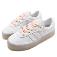 adidas 休閒鞋 Sambarose 厚底 女鞋 愛迪達 三葉草 皮革鞋面 穿搭 白 粉 FY3030