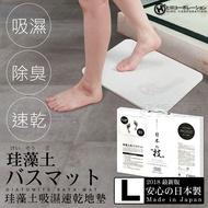 HIRO日本製珪藻土地墊-L 吸水快乾 矽藻土硅藻土 腳踏墊衛浴室踏墊足乾 現貨 日本進口正版