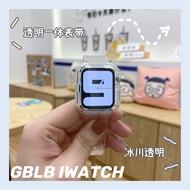 Apple 6 Applewatch One สายรัดโปร่งใส IwatchSE สายคล้อง Glacier จำกัด1-6รุ่น