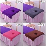 超細纖維美容床趴巾 / 美容床頭洞巾 / 按摩床SPA專用趴巾 90*60