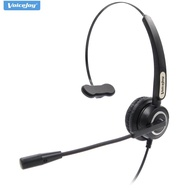 ONE Additional Ear Pad+RJ9 Headset with Microphone RJ9 Phone Headset Office Phone Headset Call Center Headphones