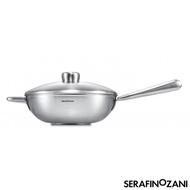 【SERAFINO ZANI】恆溫長柄中式不鏽鋼炒鍋-28cm