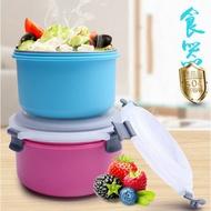泡麵碗304碗 圓型飯碗 野餐碗 有蓋碗 大碗 密封碗 304不鏽鋼 飯盒 學生飯盒 雙層防燙碗 雙層 食器