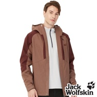 【Jack wolfskin 飛狼】男 Sympatex 防風防水透氣外套 單件式(咖啡)