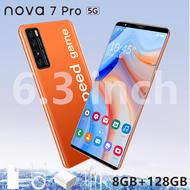 โทรศัพท์ราคาถูก HUAWE l nowa7 6.3นิ้ว 6GB RAM+128GB ROM โทรศัพท์มือถือ จอใหญ่ มือถือ New smart phone รองรับซิมการ์ดในประเทศไทยทั้งหมด