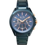 AX ARMANI EXCHANGE AX2607 時尚潮流 男錶 三眼計時 金屬藍 鋼帶 手錶