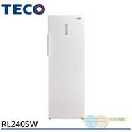 (輸碼折1100 CT8SKP9SLL)TECO 東元 240公升單門直立式風冷冷凍櫃 RL240SW