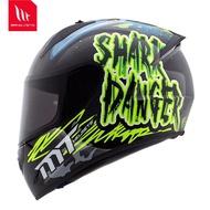 西班牙MT摩托車頭盔男女冬季藍牙全盔機車個性跑盔電動安全帽四季