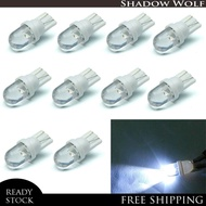 [คลังสินค้าพร้อม] SW-10Pcs/ชุดT10สีขาว12V LED 194 168 158 5W 6500Kด้านข้างลิ่มรถยนต์ไฟแผงหน้าปัด
