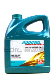 ADDINOL SUPER RACING 5W50 全合成機油 4L
