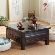 Wood Tatami Table Short Table With Window Tea Table