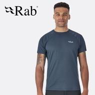【Rab 英國】Pulse 短袖排汗衣 登山排汗衣 機能衣 運動上衣 男款 烏木灰 (QBU-79)