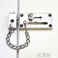 防盜鎖 不銹鋼防盜鍊安全鍊鎖鍊安全鍊扣門窗戶鎖扣反鎖鍊條防盜門鍊門扣