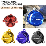 Yamaha XMAX 250ABS XMAX300 XMAX400 universal modified oil filter cap aluminum alloy protective cap accessories
