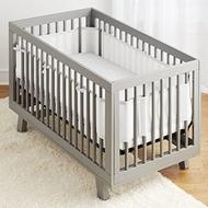 Breathable Crib Bumper Gray Mesh Crib Bumper for Baby Infant Bumper Crib
