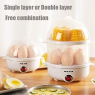 14 Eggs 350w Electric Steamer Double-layer Egg Boiler steamer for siomai and siopao steamer for business siomai steamer siomai steamer 2 layer electric