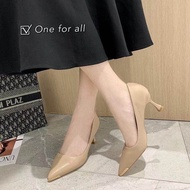 🎀พร้อมส่ง❣️TX204 รองเท้าคัชชูส้นสูง หัวแหลม สูง2.5นิ้ว รองเท้าส้นเข็ม งานดี (3สี)