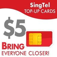 SingTel $5 Top-Up