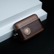AirPods保護套 一皮一木 真皮創意適用于蘋果airpods12代耳機保護套pro3代保護殼 夏沐