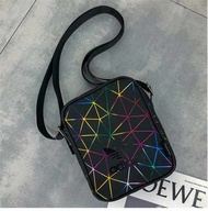 กระเป๋าคาดอก adidas_mini Issey 3D miyake_sling Bag-Women Shoulder Bag PU Leather School bags Crossbody