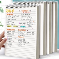 MUJI Style Spiral Notebook / Steno - Size A5 And B5 - LINE,PLAIN, DOT And GRID