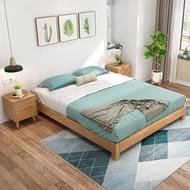 北歐全實木日式矮床架1.8米現代簡約無床頭榻榻米床架1.5m雙人床 MKS免運