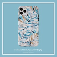 the ins wind banana leaf is suitable for 11pro / max apple xs / xr mobile phone case iphone7 anti-fall 8plus for iphone se se2 11 pro max xr x xs max 7plus 7 8 8plus 6 6s 6plus case