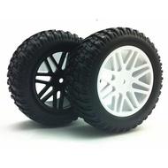 ◣瘋玩具◥一車份/ 1/10 短卡拉力胎90mm輪胎+輪框 越野車/越野胎/卡車胎/碎石胎/攀岩車