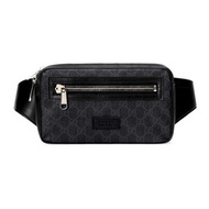 GUCCI GG BLACK BELT BAG (BLACK/GREY)