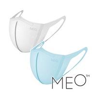 【MEO】童 MEO X-輕薄時尚防護口罩 三片裝『白+藍*2』9046924 戶外  騎車 輕量 舒適 柔軟 親膚 霧霾 感冒 抗過敏