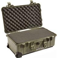 PELICAN 1510 含輪座/泡棉氣密箱 - 綠 公司貨