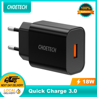 CHOETECH Quick Charge 3.0 18W USB Wall Charger for Xiaomi Note 7 8 Pro Fast Charger QC3.0 Adapter for Samsung Note 10 9 Charger