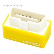 suprebaba Nitro OBD2 Chip Tuning Box Petrol Cars Power Engine ECU Remap Performance