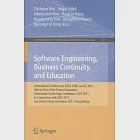 Software Engineering, Business Continuity, and Education: International Conferences, ASEA, DRBC and EL 2011, Held as Part of the