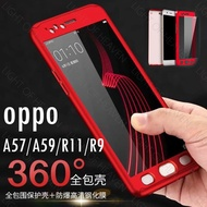 OPPO R11 A57 A59 XPLAY 6 R9S CASE 360 full body slim thin touch fell casing for oppo r11 plus case