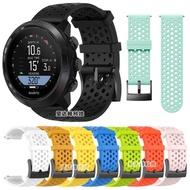 頌拓D5錶帶Suunto D5洞洞矽膠錶帶透氣錶帶潛水錶帶配件